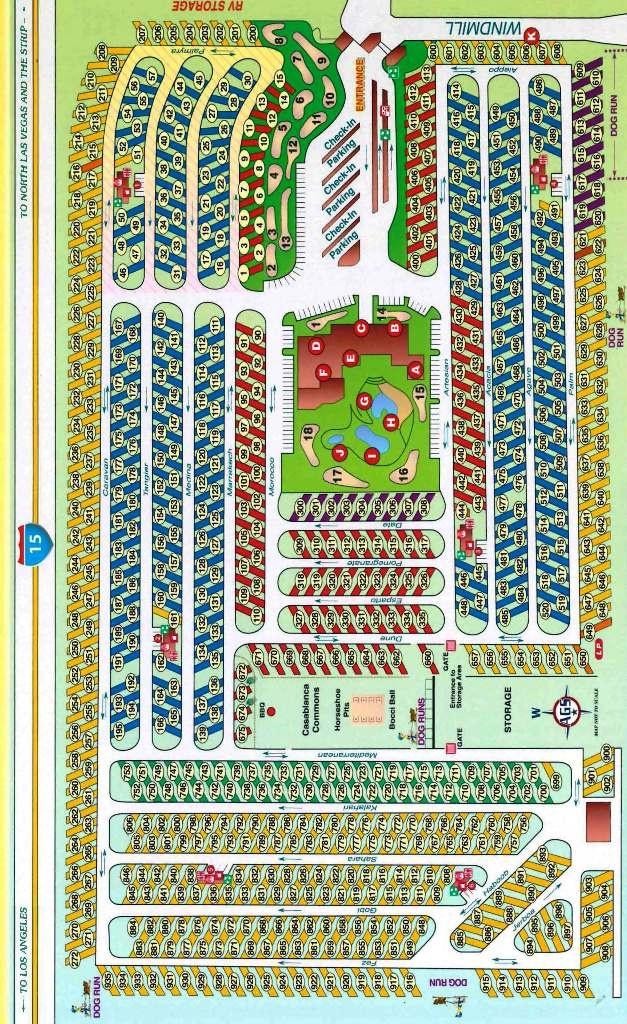 RV Resort Map Oasis Las Vegas RV Resort - Map of las vegas nv